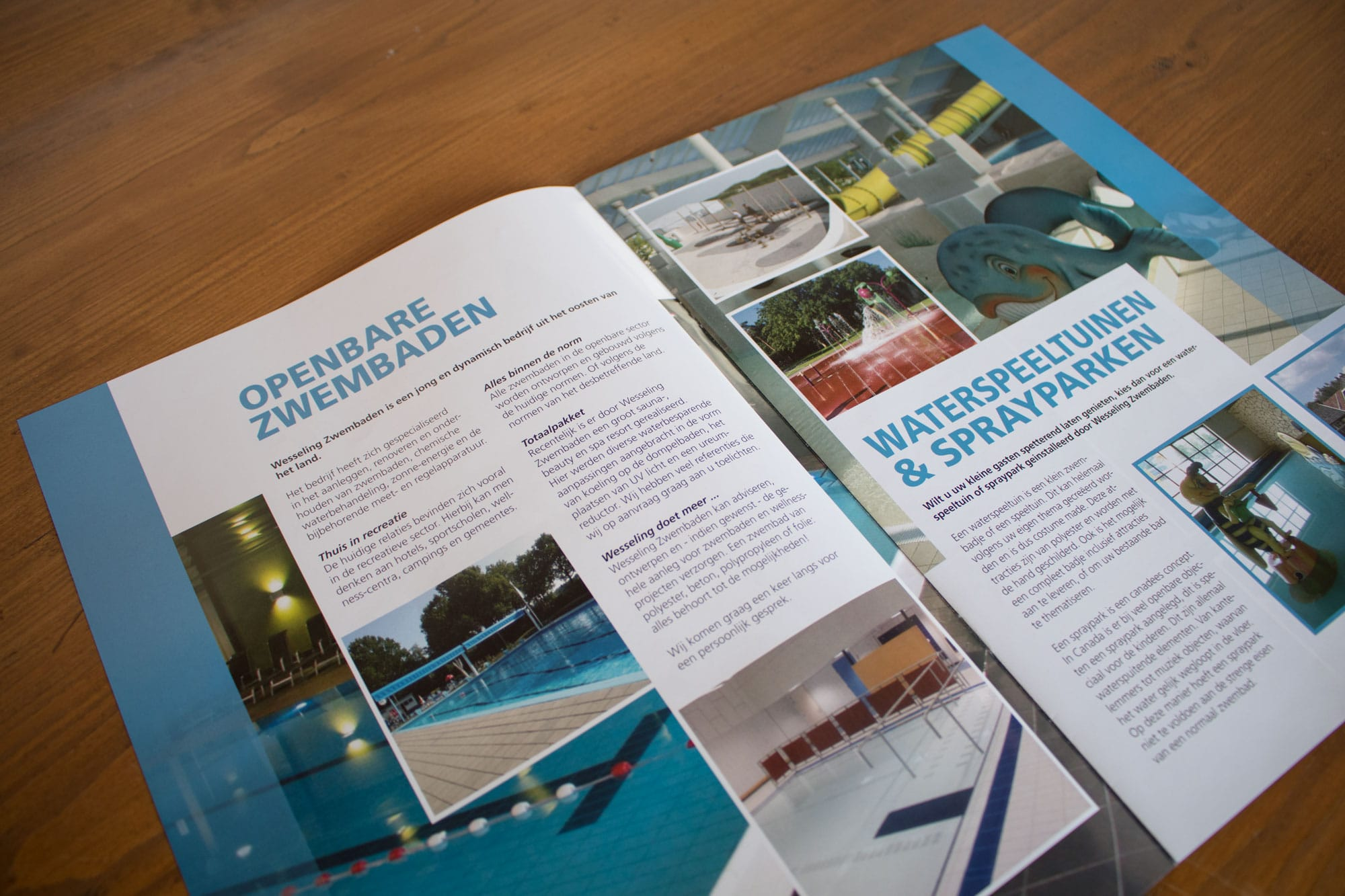 promotiematerialen - Wesseling Zwembaden